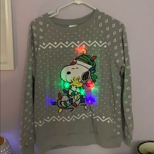 Peanuts Sweaters - Snoopy light up sweater